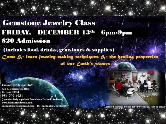 December's Gemstone Jewelry Class